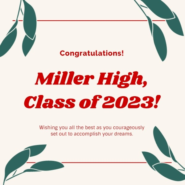 Simple White High School Graduation Card