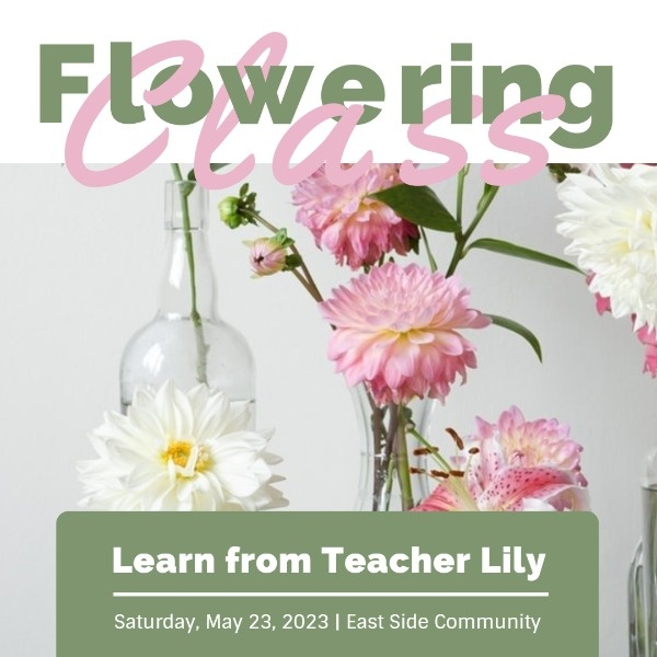 White And Green Flowering Class