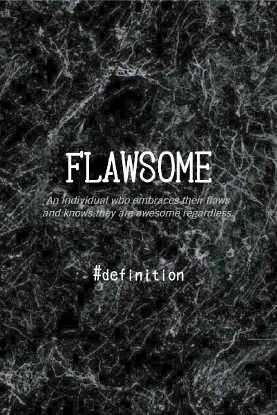 Black Background Of  Flawsome Word Definition