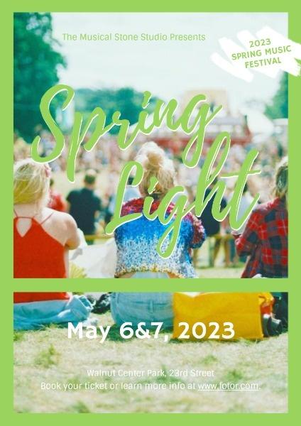 Green Spring Music Festival Poster