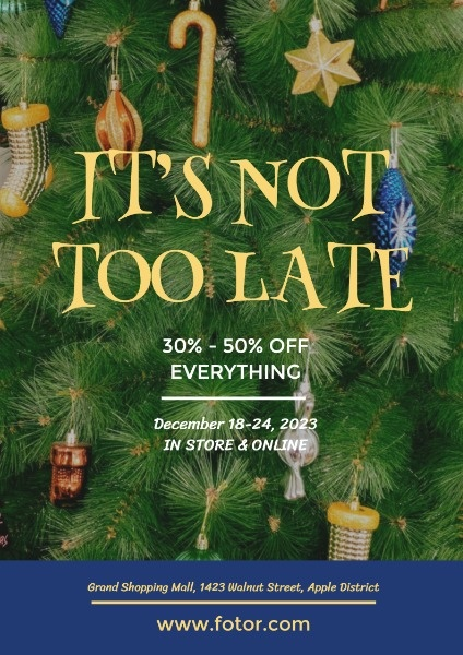 Green Christmas Tree Big Sale
