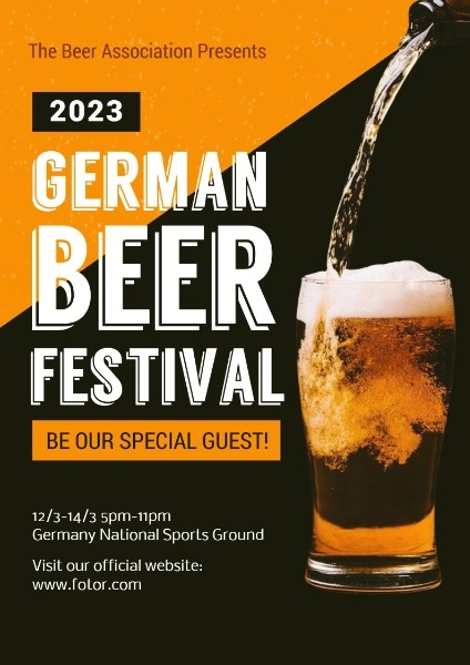 Black And Orange Beer Festival