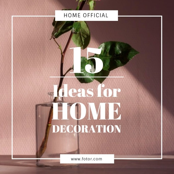 Flower Home Decoration Ideas