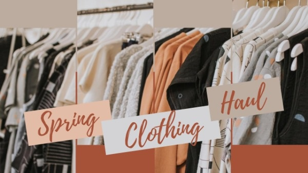 Orange Spring Fashion Clothes Haul