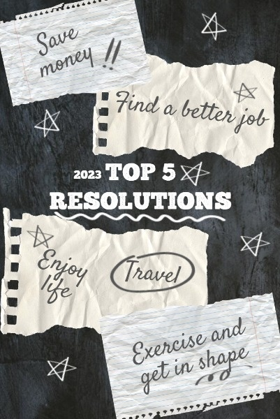 Handwritten New Year Resolution