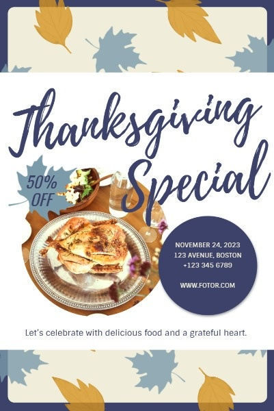 Thanksgiving Restaurant Special Sale