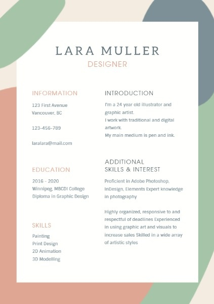 Simple Background Resume