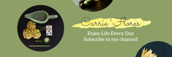 Simple Green Vlog Channel Banner
