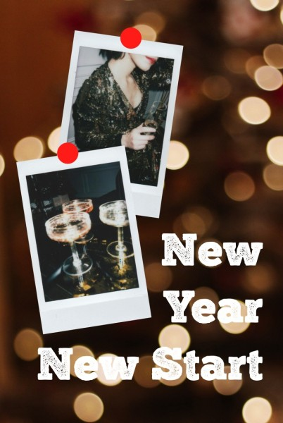 Black White New Year Drink Pinterest Post