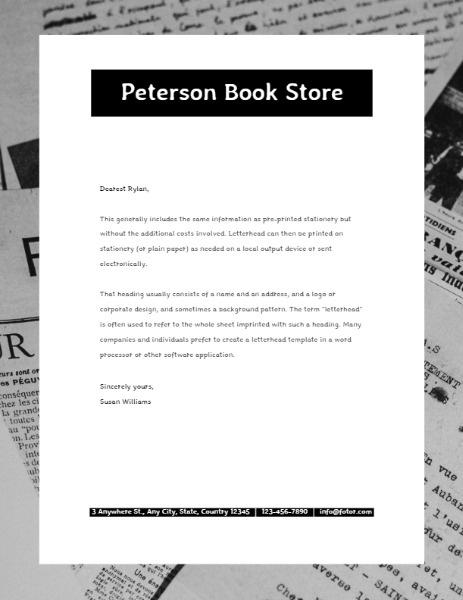 Bookstore Letterhead