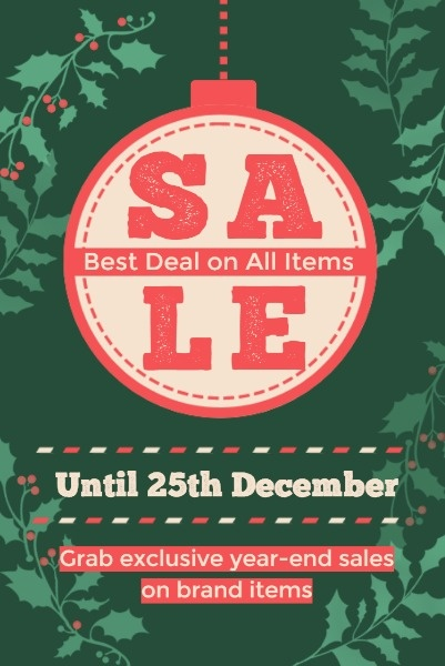 Green And Red Christmas Sale