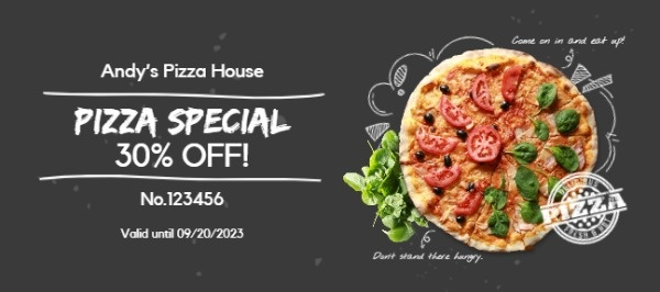 Black Pizza Coupon