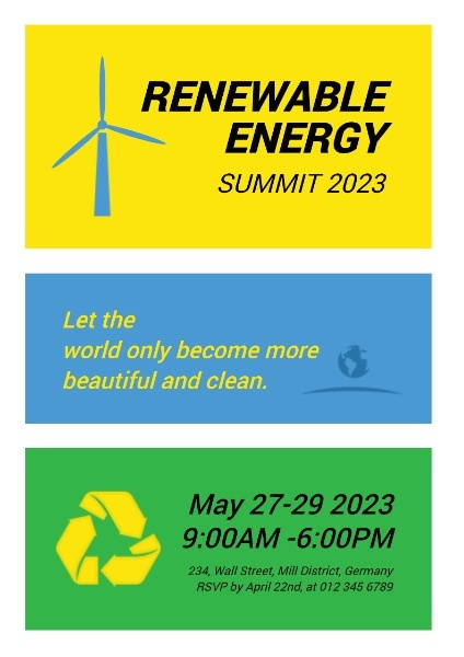 Green Energy Conference Invitation