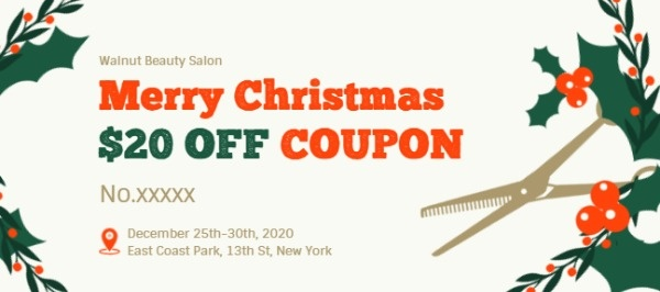 Christmas Hair Salon Discount