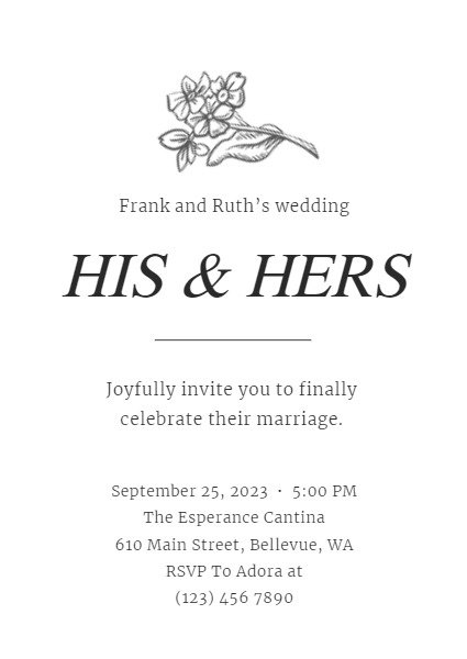Simpler Wedding Invitation