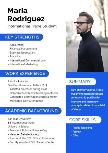 International Trade Student Resume