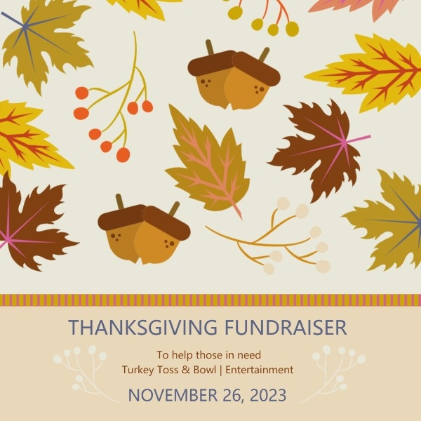 Autumn Thanksgiving Fundraiser Party