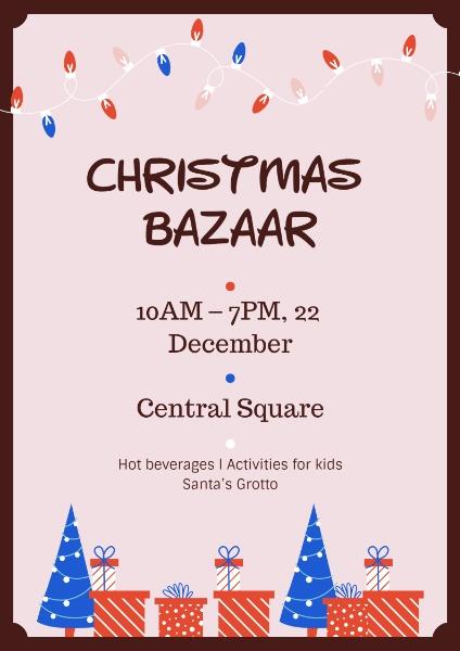 Christmas Bazaar Pink