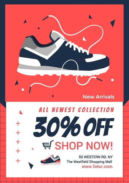 Sneakers Promotion Poster