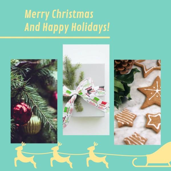 Blue Christmas Bakery Instagram Post