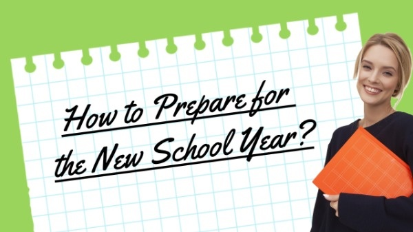How To Prepare For New School Year YouTube Thumbnail Template