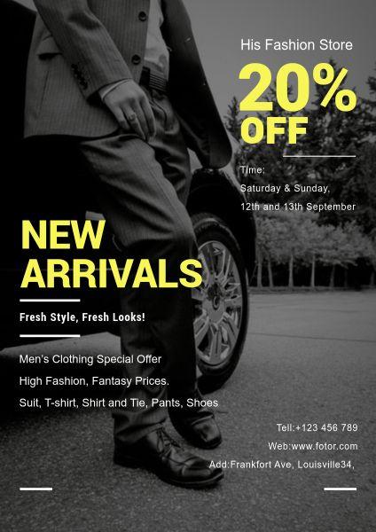 Men's Wear Discount Posters