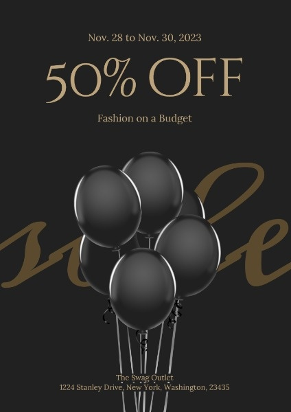 Fashion Store Black Cool Black Friday Sale