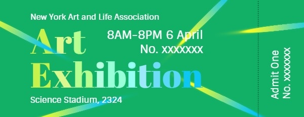 Green Art Exhibition Ticket