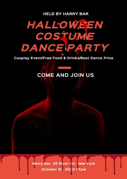 Halloween Costume Dance Party Flyer Maker Create Customized Flyer