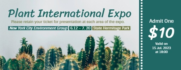 Green Plant International Expo Ticket