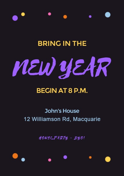 New Year House Party