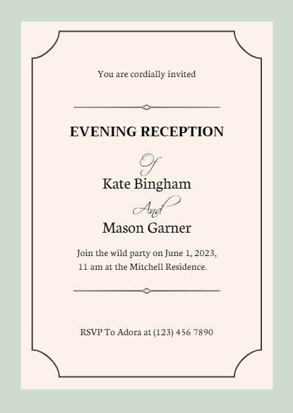 Evening Reception
