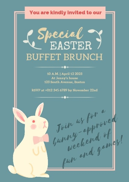 Easter Buffet Brunch Invitation