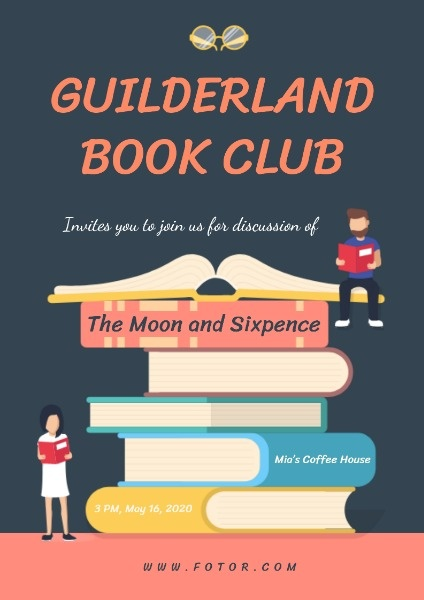 online book club poster template