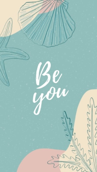 Be Yourself Sea Plant Mobile Background