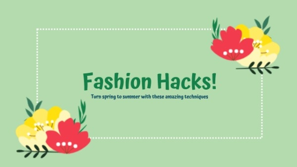 Green Fashion Hack Channel Banner