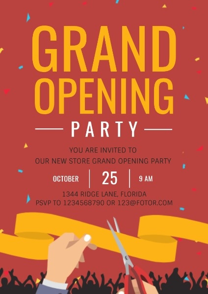 poster maker design grand opening poster online for free fotor