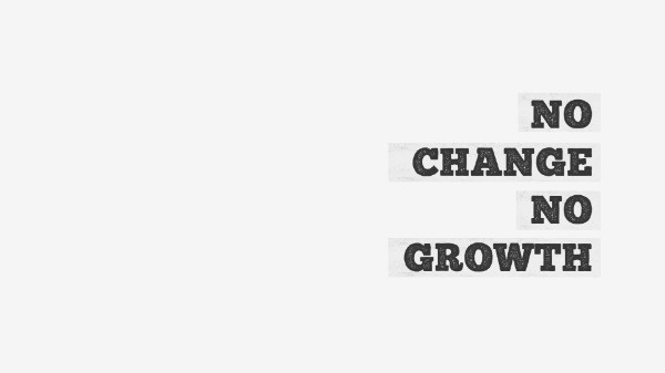 Simple White No Change No Growth Wallpaper