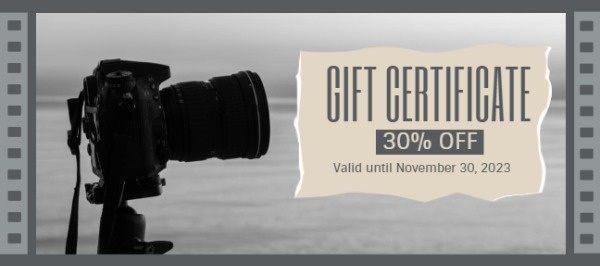 Photography Coupon