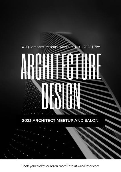 Black And White Architecture Design Summit Poster