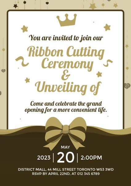 Business Opening Ceremony Ribbon Cutting