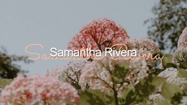 Pink Floral Tree Channel Banner