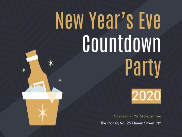 New year countdown party