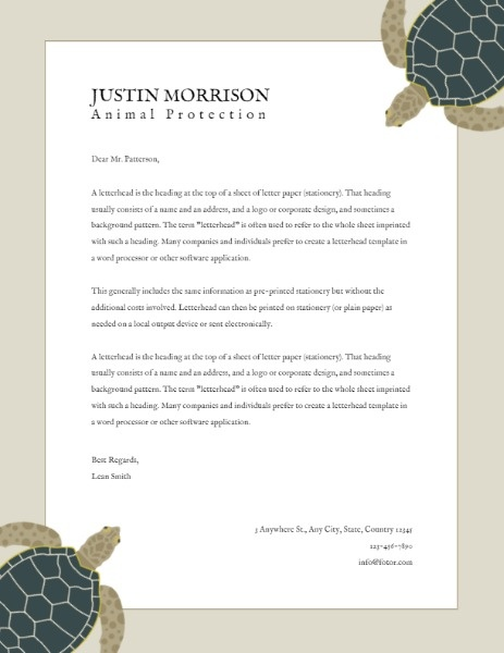 Online Animal Protection Letterhead Letterhead Template Fotor Design Maker