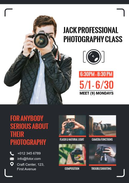 Photography Course Poster