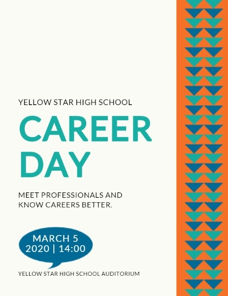 Simple White Career Day