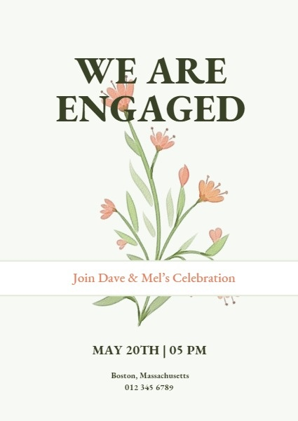 Green Engagement Invitation