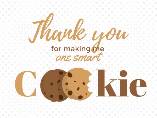 photo relating to Thanks for Making Me One Smart Cookie Free Printable named Thank Your self Card Producer Deliver Custom made Picture Playing cards On the net Fotor