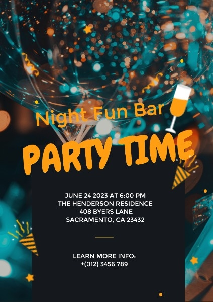 Night Fun Bar Party