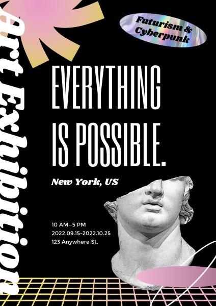 Black Cyberpunk Art Exhibition
